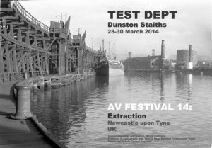 Test Dept return for an AV performance marking the 30th anniversary of the Miners Strike.